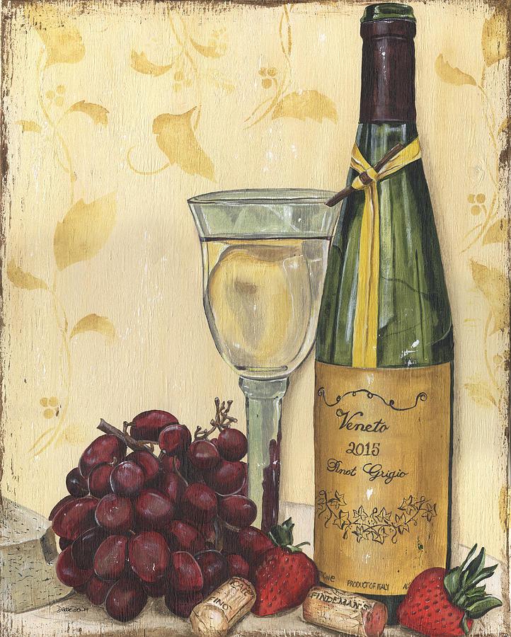 Wine Painting - Veneto Pinot Grigio by Debbie DeWitt