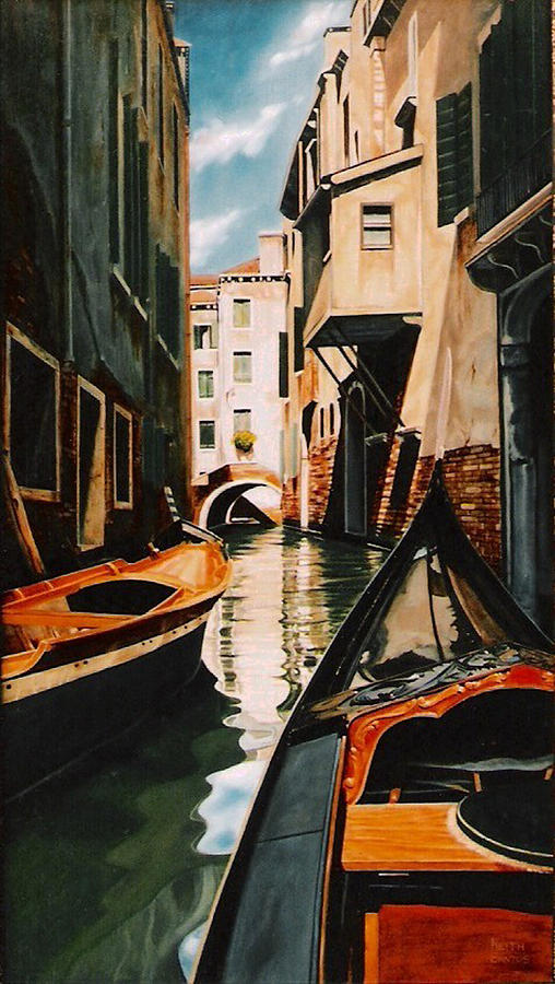 Venice - gondola ride by Keith Gantos