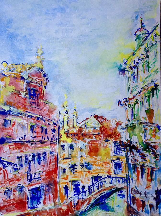 Watercolor Painting - Venice 6-28-15 by Vladimir Kezerashvili