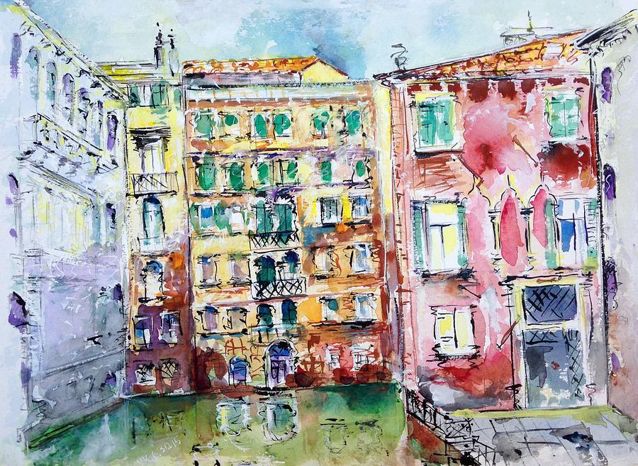 Venice Painting - Venice-6-30-15 by Vladimir Kezerashvili