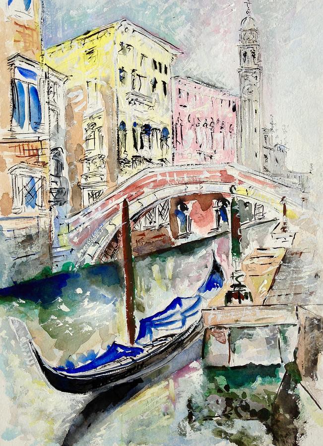 Venice Painting - Venice-7-15 by Vladimir Kezerashvili