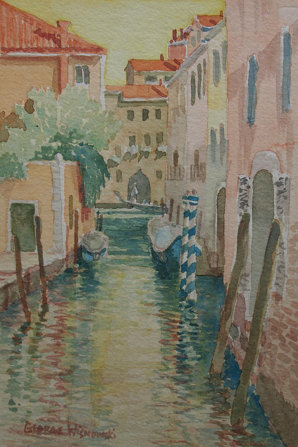 Venice Afternoon Painting by George Wisnowski