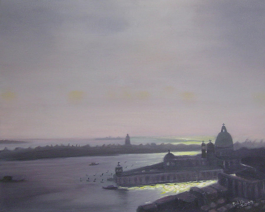 Venice At Dusk Painting by Lyne Bujold