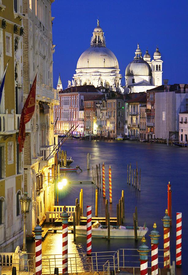 Venice Photograph - Venice At Night by Dan Breckwoldt