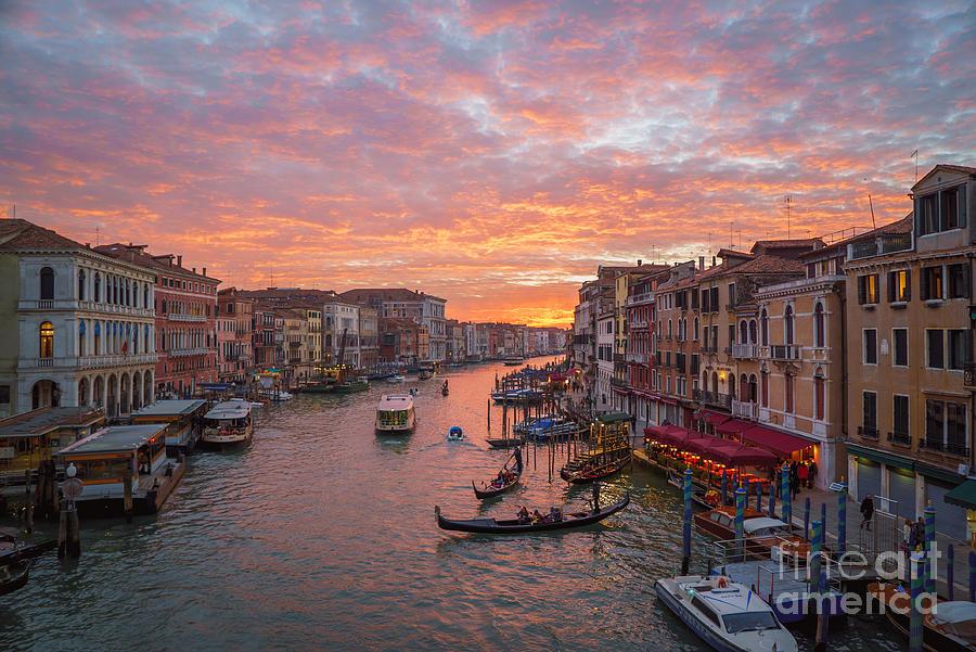Italy Photograph - Venice At Sunset - Italy by Jeffrey Worthington