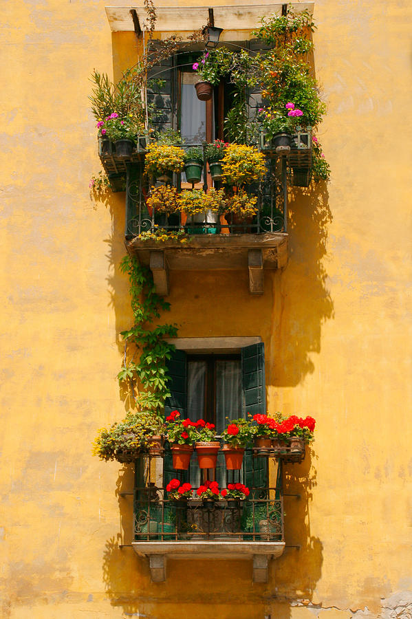 Italy Photograph - Venice Balcony by Carl Jackson