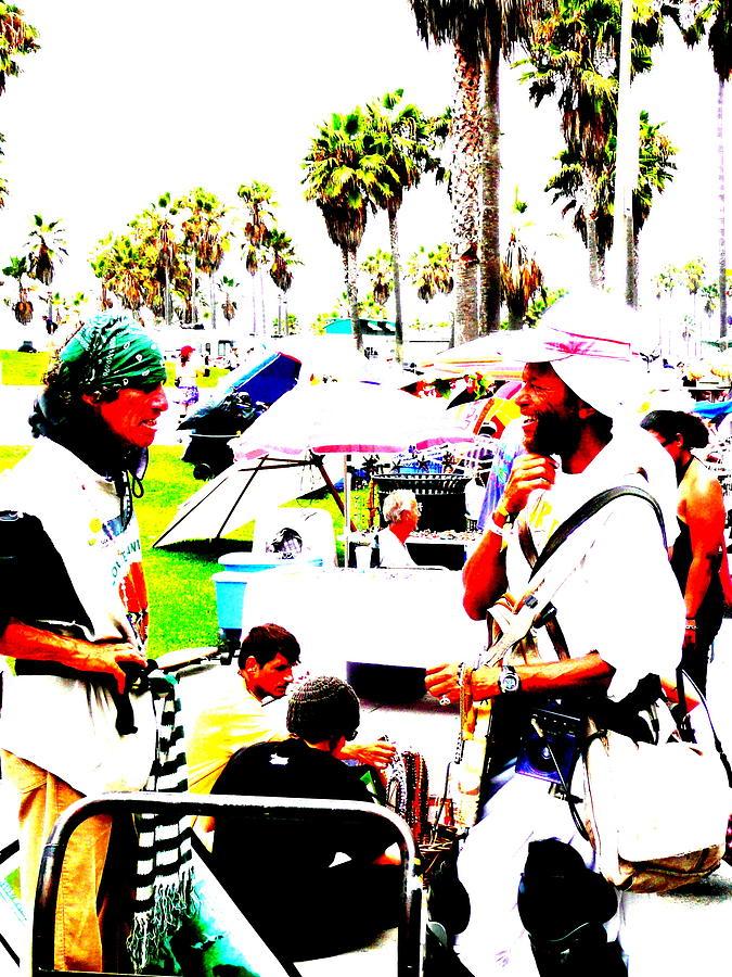 Venice Beach Photograph - Venice Beach Artsy Crowd by Funkpix Photo Hunter