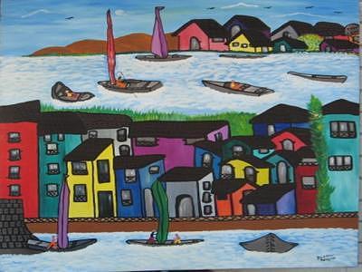 Beach House Painting - Venice Beach House by Duncan