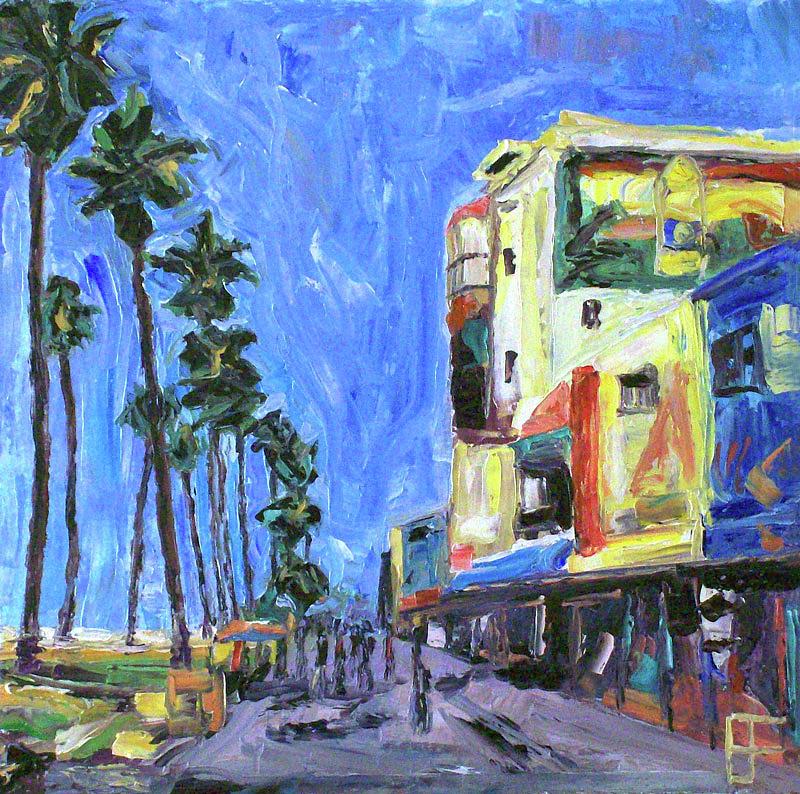 Beach Painting - Venice Beach Strand by Allen Forrest