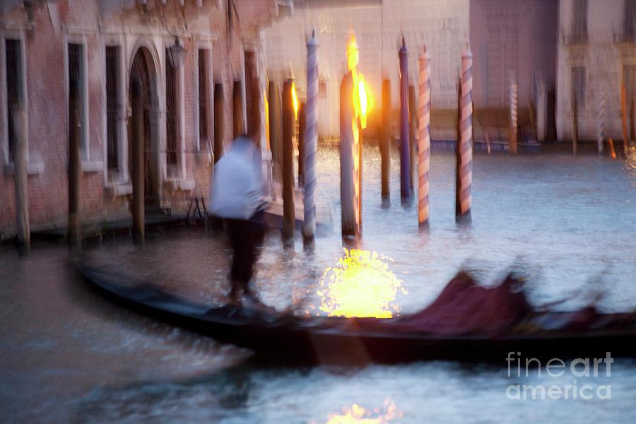 Venice Photograph - Venice Blue Hour 1 by Heiko Koehrer-Wagner