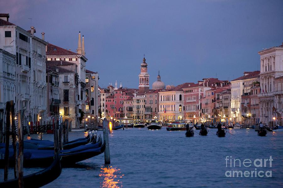 Venice Photograph - Venice Blue Hour 2 by Heiko Koehrer-Wagner