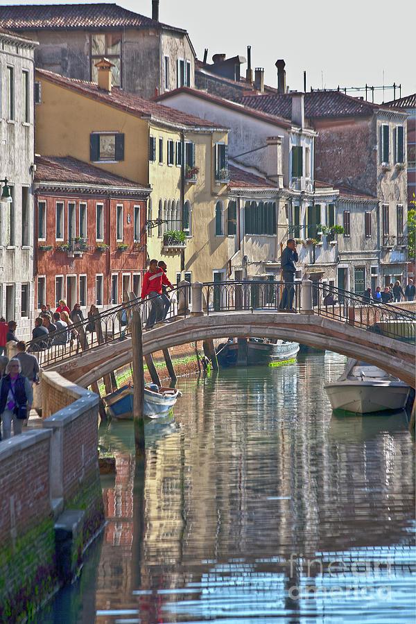 Venice Photograph - Venice Bridge Crossing 6 by Heiko Koehrer-Wagner