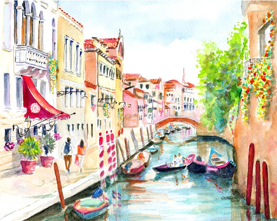 Venice Painting - Venice Canal Boscolo Venezia by Carlin Blahnik CarlinArtWatercolor