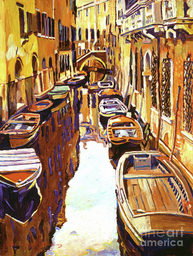 Impressionist Painting - Venice Canal by David Lloyd Glover
