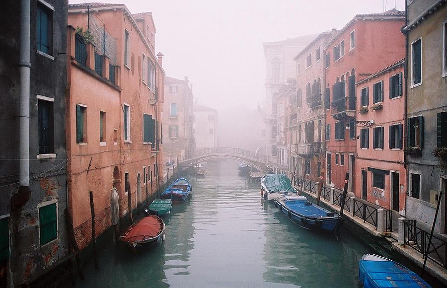 Venice Photograph - Venice Canal I by Kathy Schumann