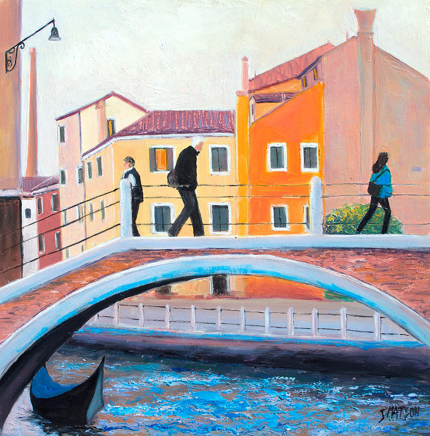 Venice Painting - Venice Canal Painting by Jan Matson