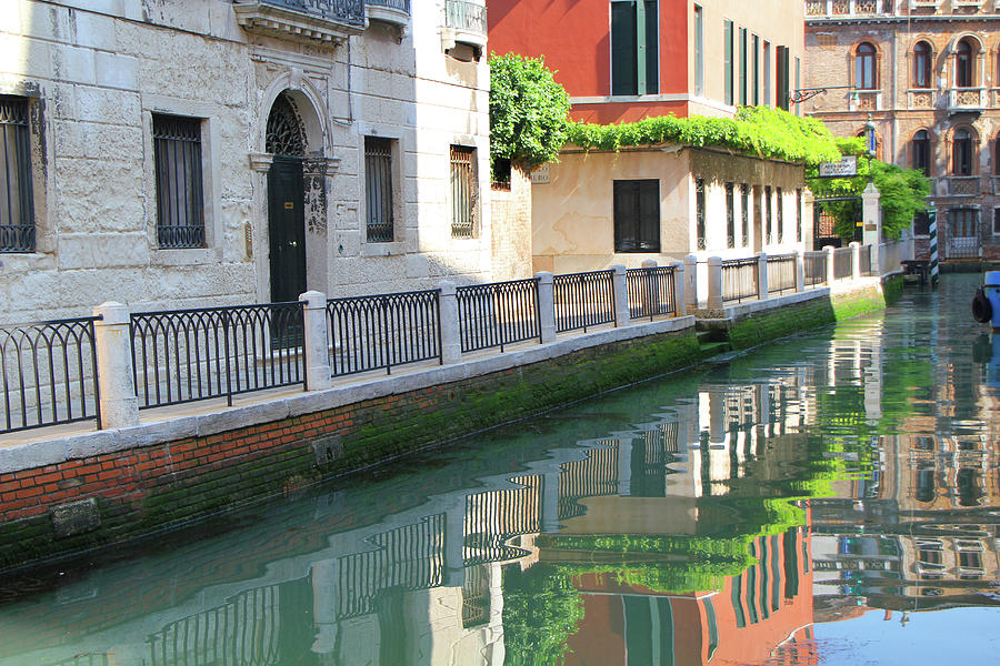 Europe Photograph - Venice Canal Reflection 3 by Vicki Hone Smith