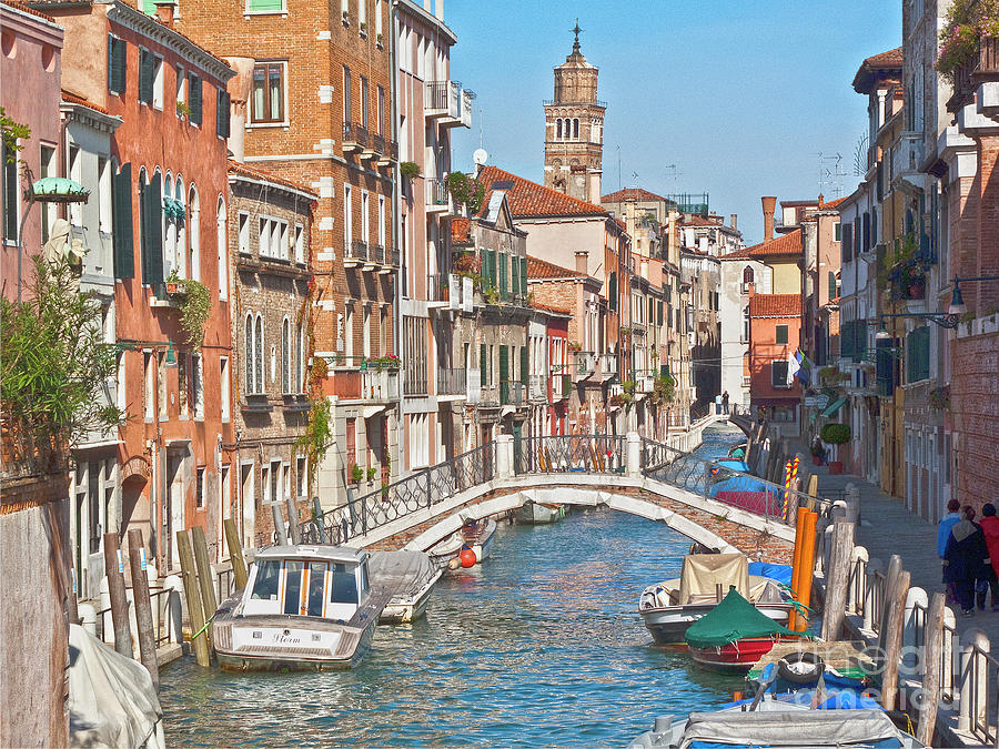 Venice Photograph - Venice Canaletto Bridging by Heiko Koehrer-Wagner