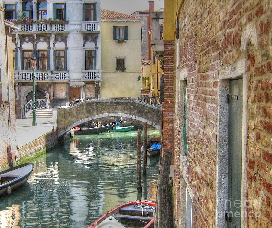 City Pyrography -  Venice Channels1  by Yury Bashkin