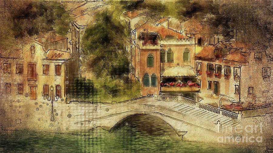 Venice Digital Art - Venice City Of Bridges by Lois Bryan
