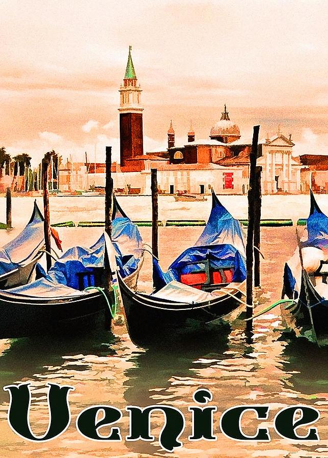 Venice Painting - Venice, City Of Romance, Italy, Gondolas by Long Shot
