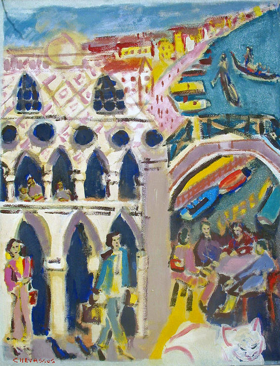 Italy Painting - Venice Doges  Palace by Chevassus-agnes Jean-pierre