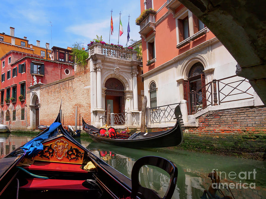 Venice Photograph - Venice From A Gondola by Louise Heusinkveld