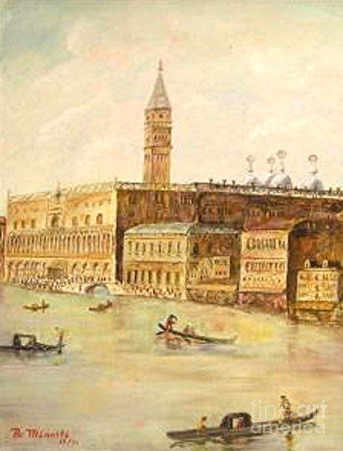 Venice Painting - Venice From Grand Canal by Nicholas Minniti