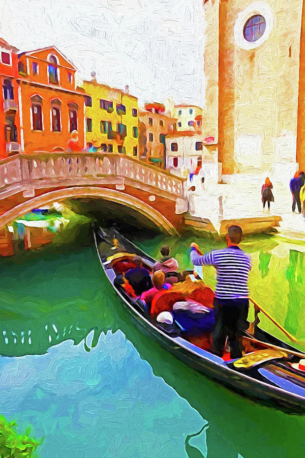 Italy Digital Art - Venice Gondola Series #1 by Dennis Cox