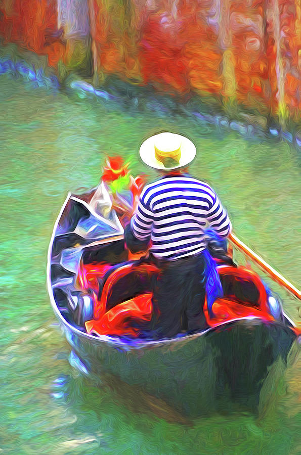 Italy Digital Art - Venice Gondola Series #3 by Dennis Cox