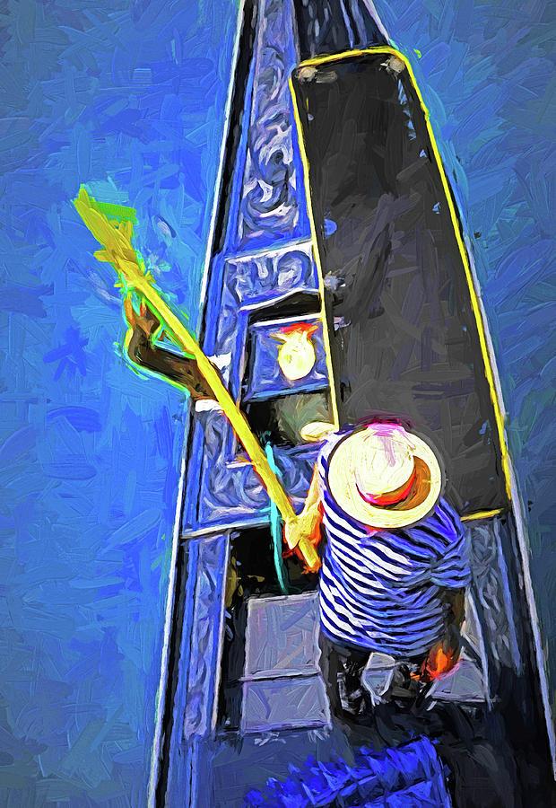 Italy Digital Art - Venice Gondola Series #4 by Dennis Cox