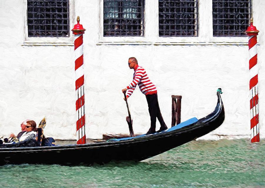 Italy Digital Art - Venice Gondola Series #5 by Dennis Cox