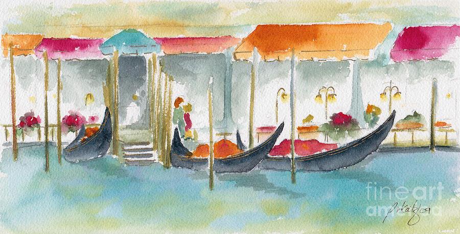 Venice Painting - Venice Gondolas by Pat Katz