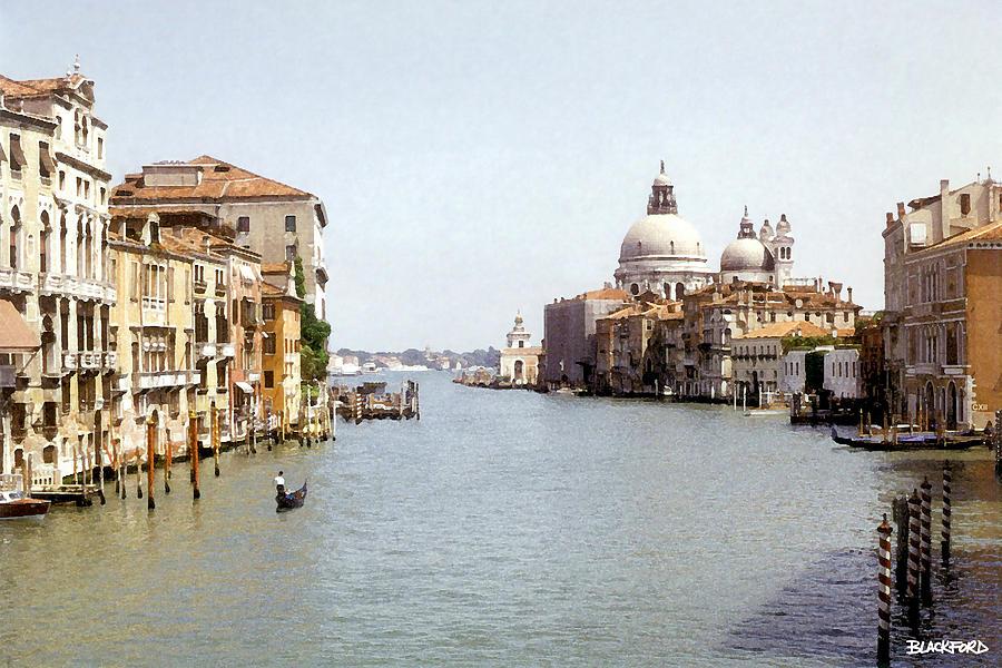 Venice Digital Art - Venice Grand Canal by Al Blackford