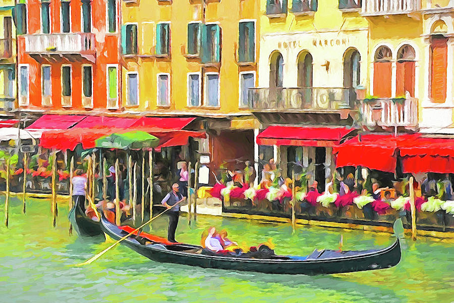 Italy Digital Art - Venice Grand Canal by Dennis Cox