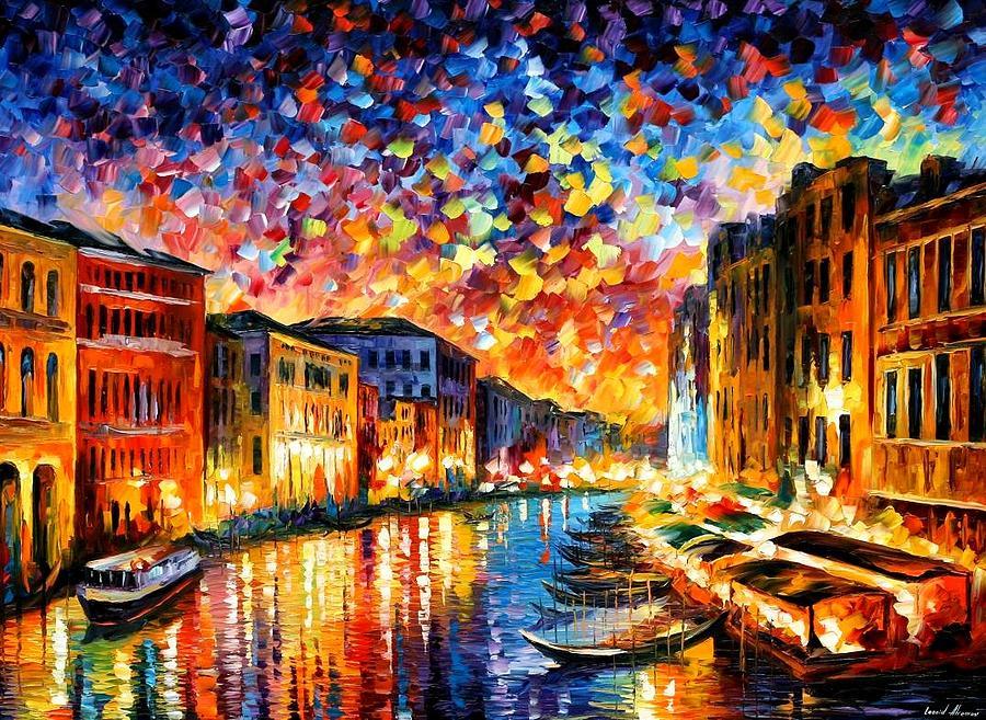 Afremov Painting - Venice - Grand Canal by Leonid Afremov