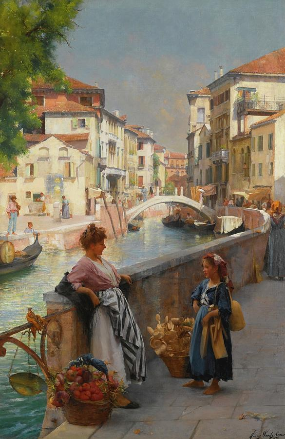 Henry Woods Painting - Venice by Henry Woods