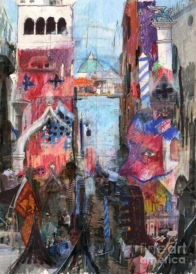 Venice Digital Art - Venice III by Andy  Mercer