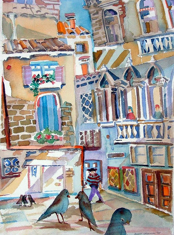 Venice Painting - Venice Is Sinking by Mindy Newman