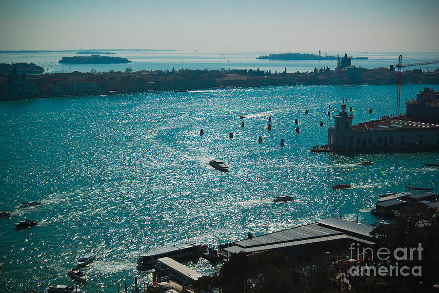 Venice lagoon Photograph by Marc Daly