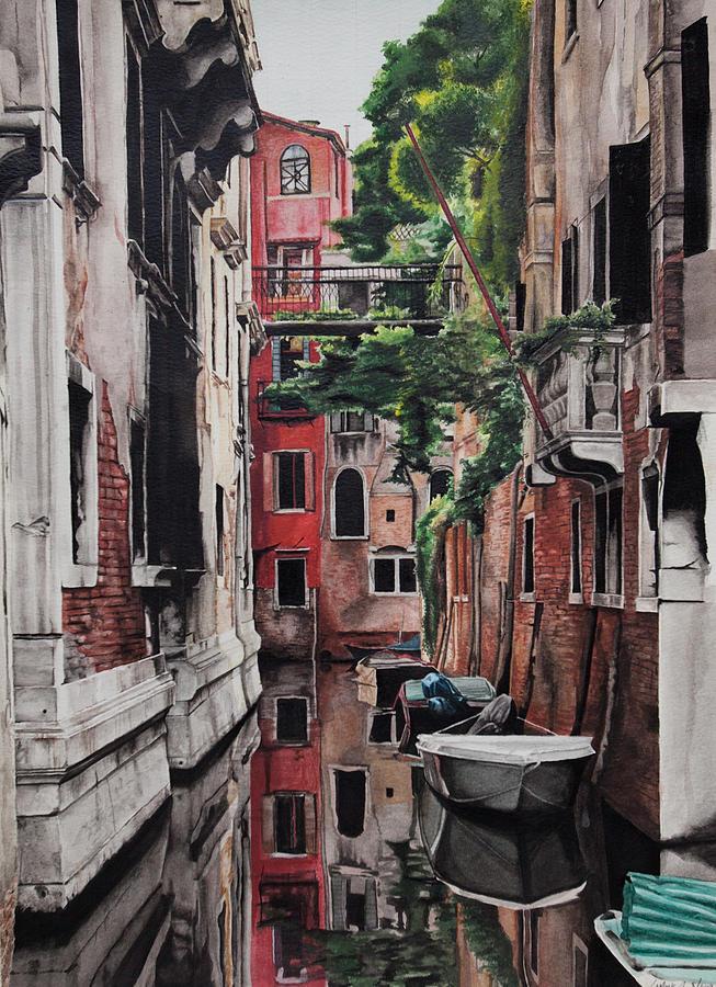 Italy Painting - Venice by Lamark Crosby