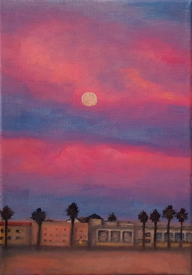 Venice Painting - Venice Moonrise by Pia Tohveri