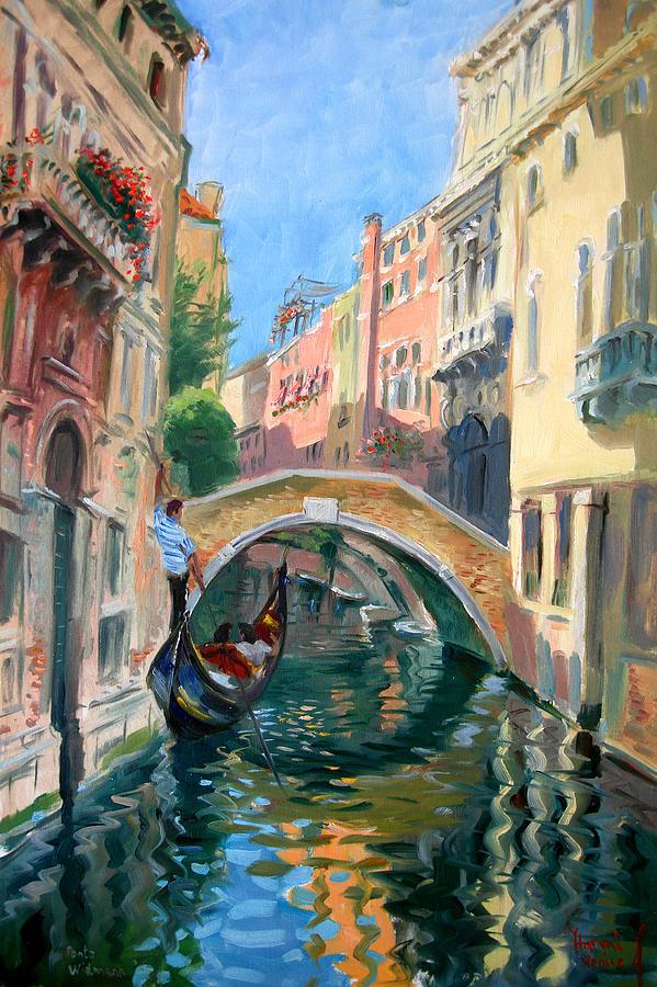 Venice Ponte Widmann Painting By Ylli Haruni