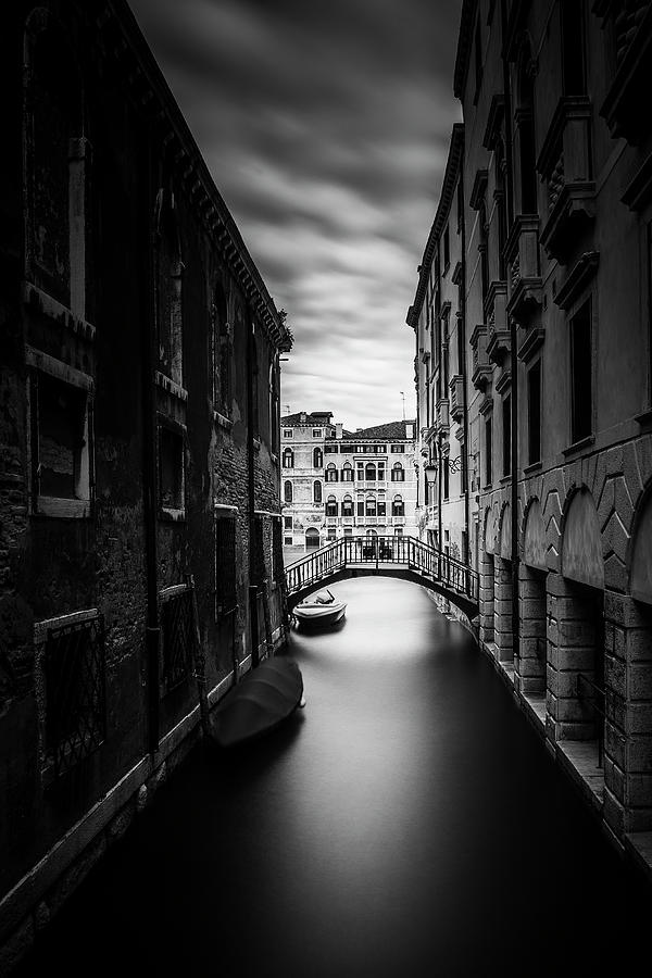 Venice Photograph - Venice Residential Canal by Andrew Soundarajan