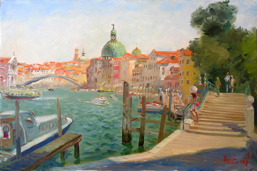 Italy Painting - Venice Santa Chiara by Ylli Haruni