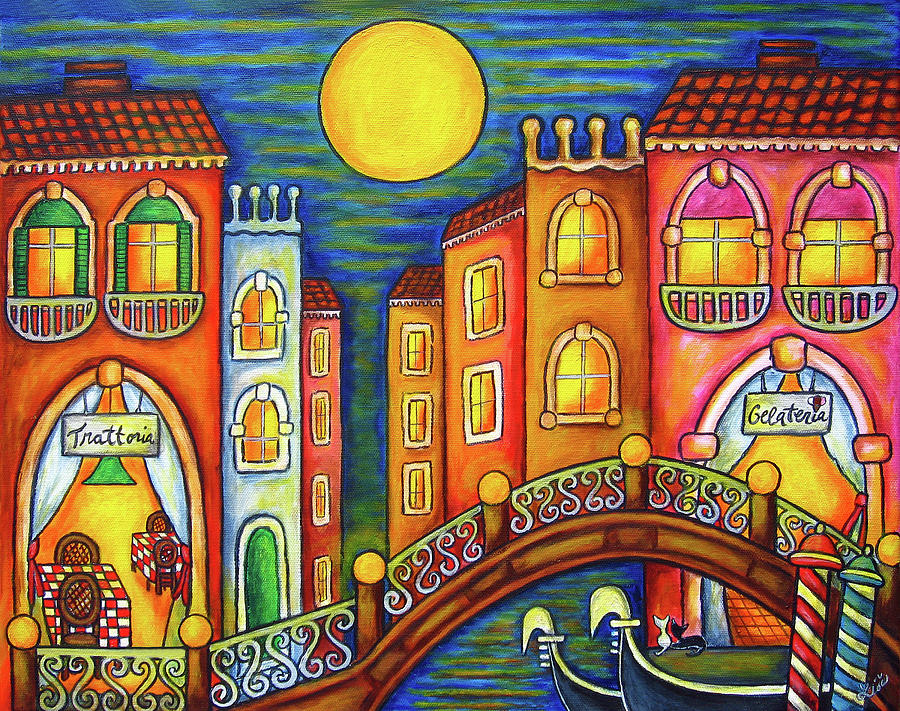 Colourful Painting - Venice Soiree by Lisa  Lorenz