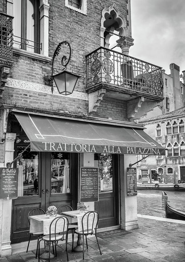 Venice Photograph - Venice Trattoria On A Canal by Georgia Fowler