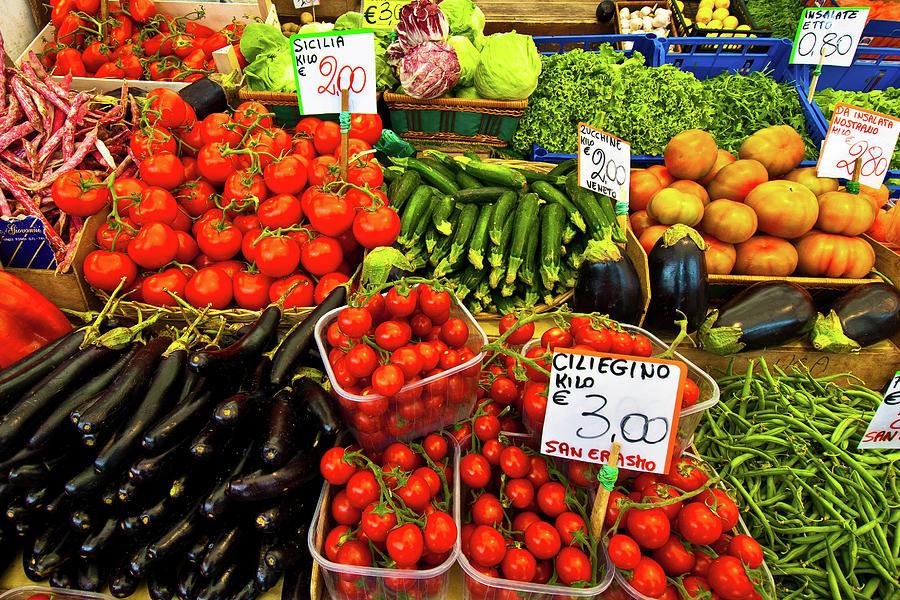 Digital Photographs Photograph - Venice Vegetable Market by Harry Spitz