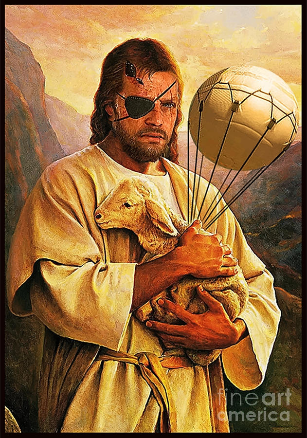 Metal Gear Solid Painting - Venom Jesus Snake by Billi Vhito