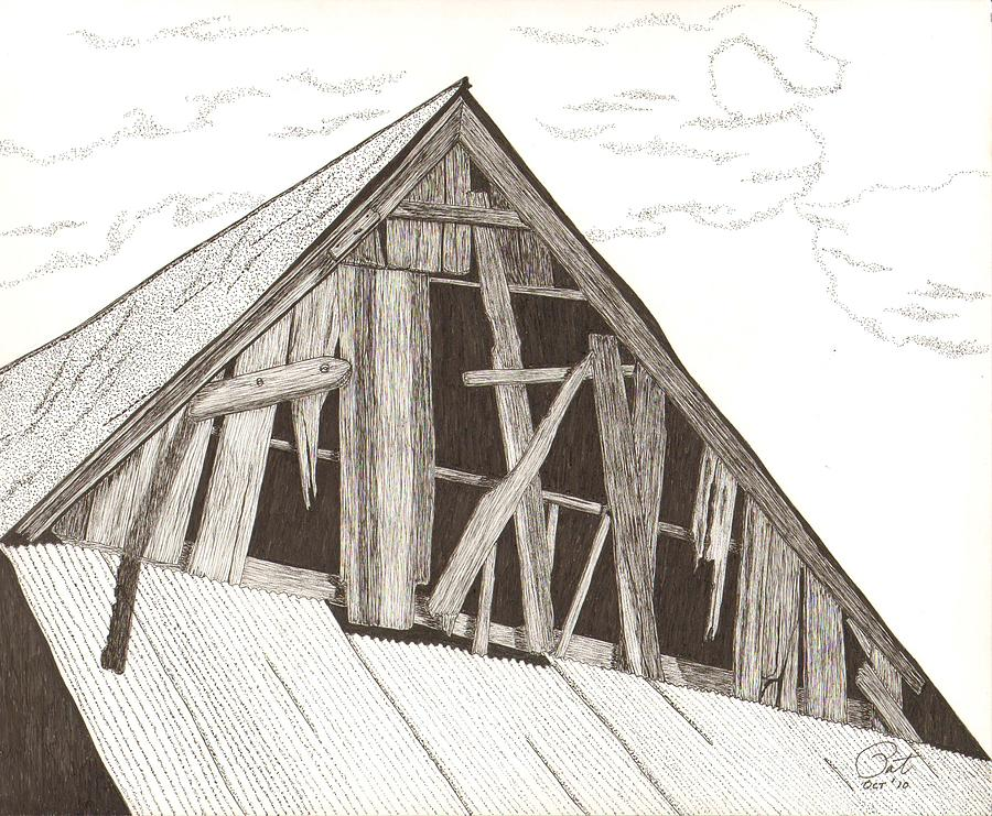 Pen And Ink Drawing - Ventilated by Pat Price